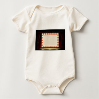 Theatre or Cinema with style light bulb sign Baby Bodysuit