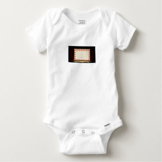 Theatre or Cinema with style light bulb sign Baby Onesie