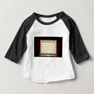 Theatre or Cinema with style light bulb sign Baby T-Shirt
