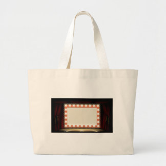 Theatre or Cinema with style light bulb sign Large Tote Bag