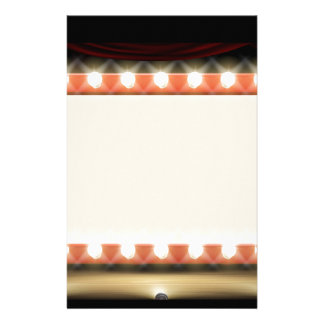 Theatre or Cinema with style light bulb sign Stationery