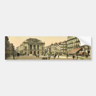 Theatre Place, Montpelier, France classic Photochr Car Bumper Sticker