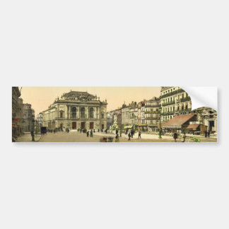 Theatre Place Montpelier France classic Photochr Bumper Sticker