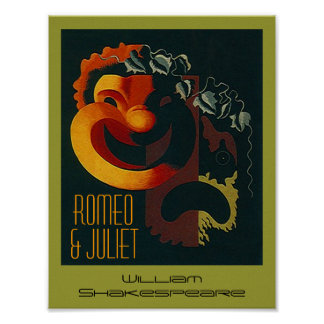 Theatre Poster Romeo & Juliet William Shakespeare