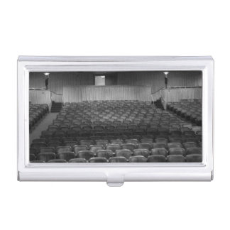 Theatre Seats Black White Business Card Holder