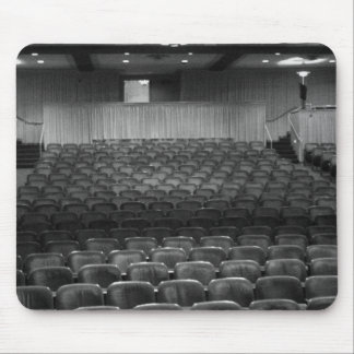 Theatre Seats Black White Mouse Pad