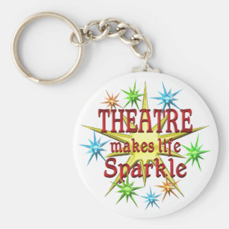 Theatre Sparkles Basic Round Button Key Ring