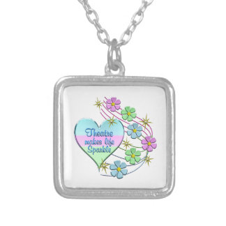 Theatre Sparkles Silver Plated Necklace