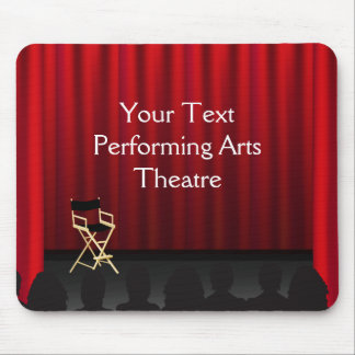 Theatre Stage Curtains Director Mousepad