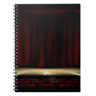 Theatre Stage with Theater Curtains Spiral Notebook