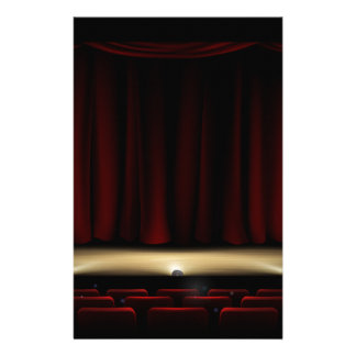 Theatre Stage with Theater Curtains Stationery