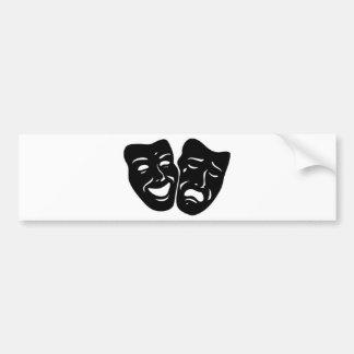 Theatre Symbol Bumper Sticker