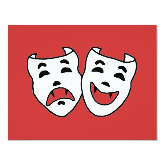 Theatre Vamps 11 Cm X 14 Cm Invitation Card