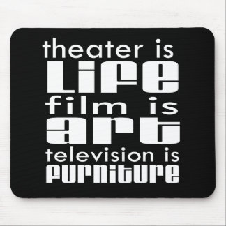 Theatre vs Film vs TV Mouse Pad