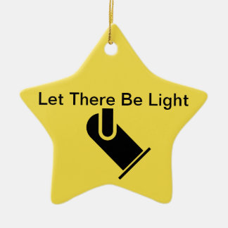 """Theatrical Lighting Ornament """"Let There Be Light"""""""
