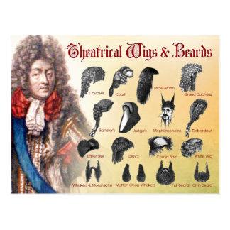 Theatrical Wigs & Beards Postcard