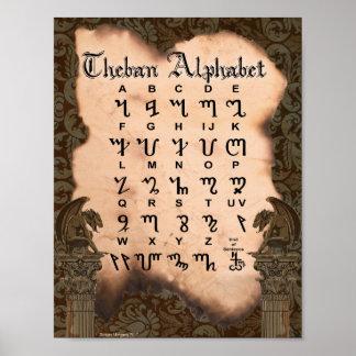 THEBAN ALPHABET POSTER