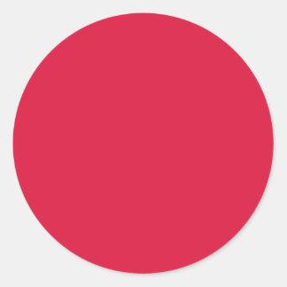 TheColorWheel Crimson Round Sticker