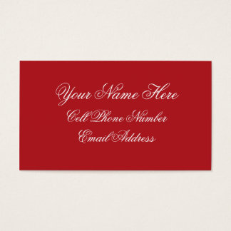 TheColorWheel Indian Red Business Card