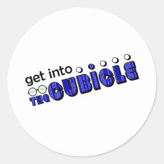 theCUBICLE Season 2 - Blue Death Screen Round Sticker