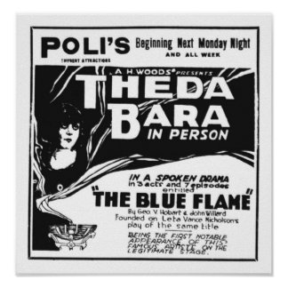 Theda Bara 1920 poster personal appearance
