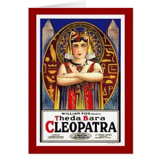 Theda Bara as Cleopatra Vintage Movie Greeting Card