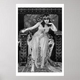 Theda Bara Cleopatra B&W Movie Poster