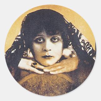 Theda Bara Round Sticker