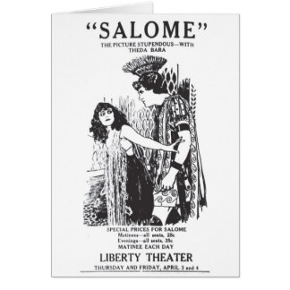 Theda Bara SALOME 1919 silent movie advertisement Card