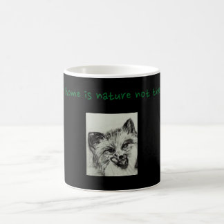 their home is nature not the zoo. coffee mug