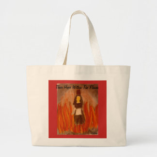 Their Hope Within The Flames art Large Tote Bag