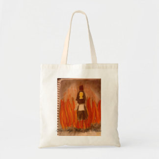 Their Hope Within the Flames book cover tote bag