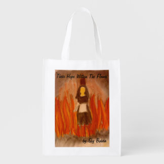 their hope within the flames cover shopping bag