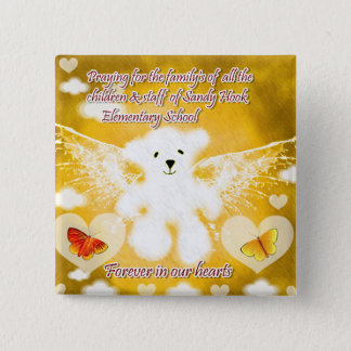 Their in our prayers_Button 15 Cm Square Badge