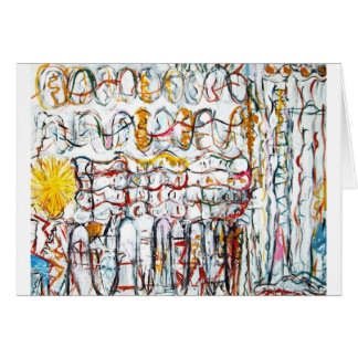 Their Second Sun (abstract graffiti expressionism) Greeting Card
