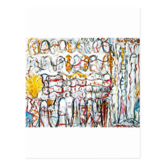 Their Second Sun (abstract graffiti expressionism) Postcard