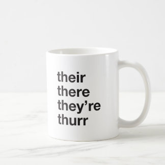 their there they're thurr coffee mug