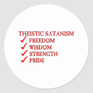 Theistic Satanism/Luciferianism Devotion Classic Round Sticker