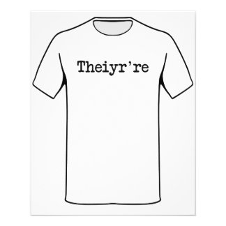 Theiyr're Their There They're Grammer Typo 11.5 Cm X 14 Cm Flyer