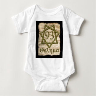 THELEMA STYLE OCCULT DESIGN BABY BODYSUIT