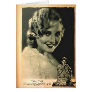 Thelma Todd 1928 movie magazine photo Card