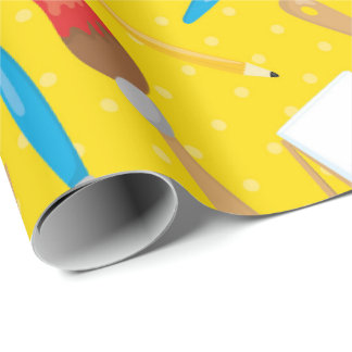 Themed Artists paint party wrapping paper