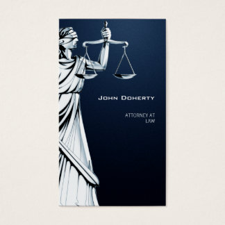 Themis | ATTORNEY AT LAW | Dark Blue Business Card