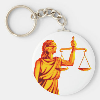 Themis Scales of Justice Key Ring