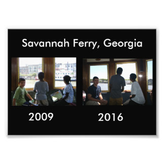 Then and Now - Savannah Ferry, GA Photo Print