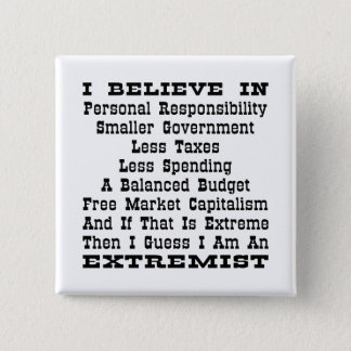 Then I Am An Extremist 15 Cm Square Badge
