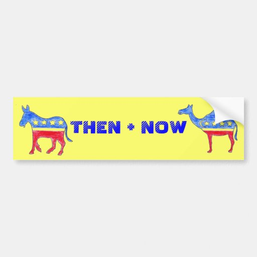 THEN + NOW BUMPER STICKER
