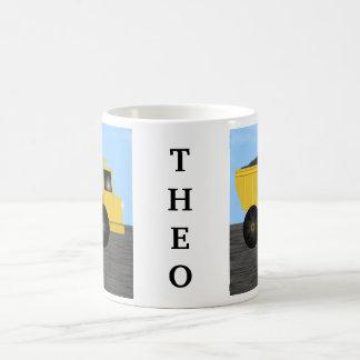 Theo Dump Truck Personalized Name Mug