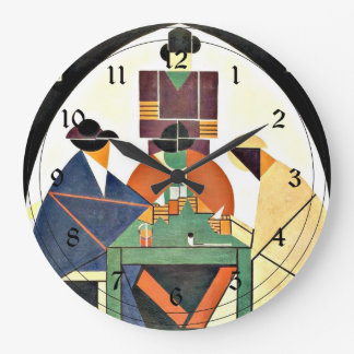 Theo van Doesburg - The Cardplayers, 1916, Cubism Large Clock