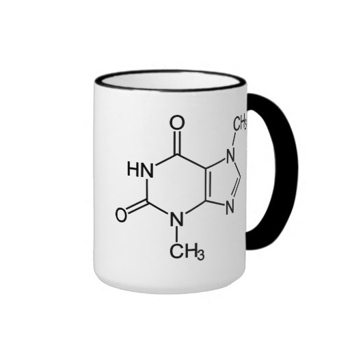 Theobromine Chocolate Molecule Coffee Mugs